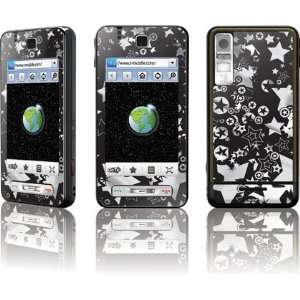 Samsung Behold T919 Deluxe Silicon Skin, White Stars Silicone/Gel/Soft