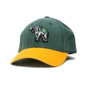 Oakland Athletics Retro Logo Pastime Cap   Green/Yellow