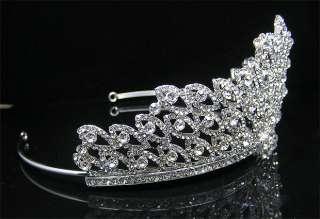 Wedding/Bridal crystal veil tiara crown headband CR223