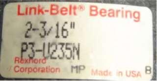 Link Belt P3U235N Pillow Block Bearing 2 3/16 Shaft