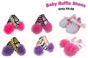 Girl Pink Ruffle Mary Janes Shoes (Leopard/ Zebra/ Polka Dot/ Ribbon