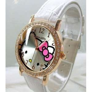 Miss Peggys **Hello Kittys Ywe12w White Diamonds (Rhinestones) on a