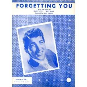 Forgetting You Vintage 1958 Sheet Music recorded by Dean