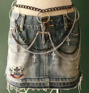 GOTHIC DOLL HANDCRAFT Skirt Hip Punk Vamp Chain Belt #5