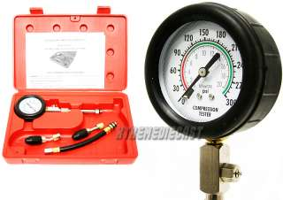 Quick Gas Engine Cylinder Compression Tester Testing Gauge Kit Test