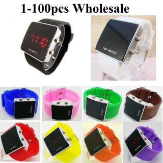 Wholesale Colorful Fashion Luxury Sport Style LED Digital Date Lady