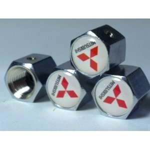 Mitsubishi Anti theft Car Wheel Tire Valve Stem Caps