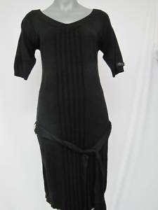 Miss Sixty Bruk Strickkleid Damen Kleid schwarz Gr.L