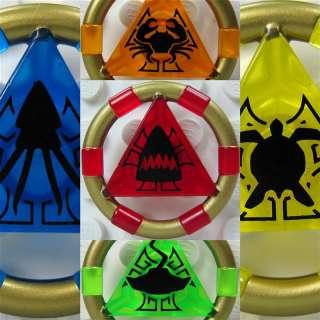 LEGO® ATLANTIS 5 Schatzschlüssel Key Ringe Schlüssel