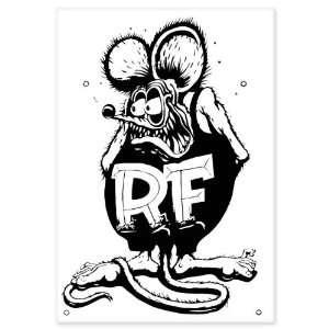 Rat Fink car bumper sticker window decal 5 x 3