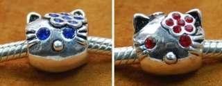 NEW 925 Sterling Silver Bead 4 European Bracelet CHARM HELLO KITTY