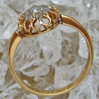 Diamantringe 18kt 750 Gold Ring Antik Altschliff Diamant Ring