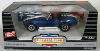 Shelby Cobra 427 S/C 1:18 Scale by Ertl   1993   Blue