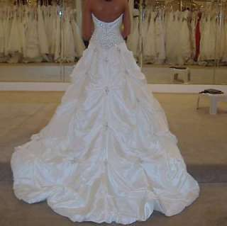 New White/Ivory Wedding Dress Bridal Gown Size 6 8 10 12 14 16