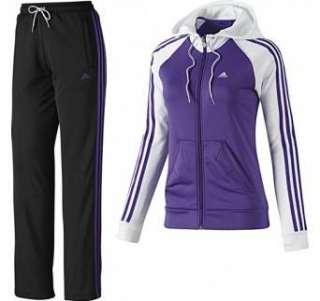 Adidas Damen Trainingsanzug 3S Young Core Knit Lila Weiss ORIGINALS