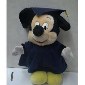 Vintage Disney 10 Mickey Mouse Graduate Plush Doll