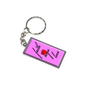 Faith Hope Love with Heart   New Keychain Ring Automotive