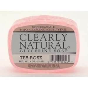 Clearly Natural Soap Bar Tearose Beauty