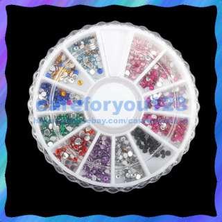 1200 ART RHINESTONES Glitter Wheel Glue Acrylic NAIL C