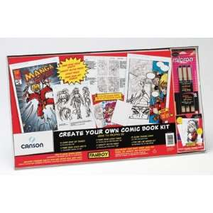 Fanboy Create Your Own Comic Book Kit with Cards  Toys & Games