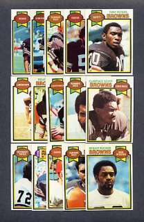 1979 Topps Football Cleveland Browns TEAM SET Ozzie Newsome RC