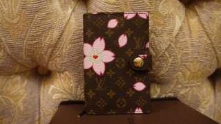 LOUIS VUITTON CHERRY BLOSSOM ADDRESS BOOK PINK CASE BAG