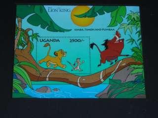 The Lion King Simba Timon Pumbaa Framed Stamp DISNEY