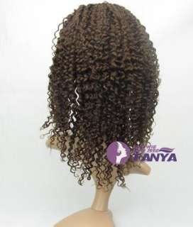 20 Jerry Curl Full Lace Cap India Remy 100% Human Hair Wig 5