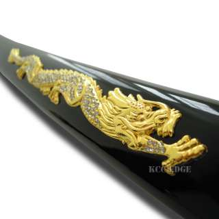 40.5 High Carbon Steel Golden Crystal Dragon Japanese Katana Samurai