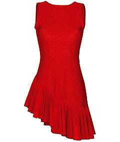 NEW Red Asymmetrical Salsa Latin Dance Dress ALL SIZES