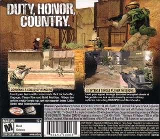 ARMY RANGER MOGADISHU Shooter PC Combat Game NEW SEALED 742725267398