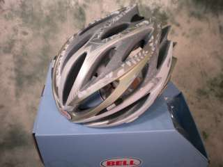 NEW 2011 BELL SWEEP CYCLING HELMET WHITE GOLD FLOW MED