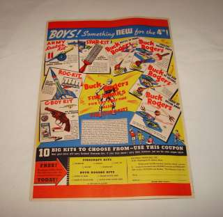 1937 BUCK ROGERS ad page ~ FIREWORKS AND TOYS