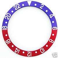 PEPSI BEZEL INSERT FOR ROLEX GMT 1675,16750 SILVER/FONT