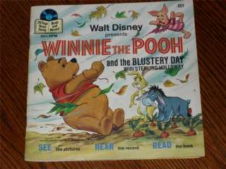 Vintage 1978 Disney WINNIE THE POOH 33 RPM Record/Book
