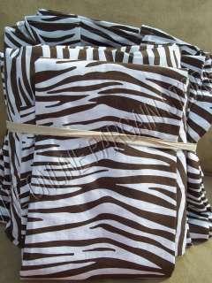 Teen PBT kids Zebra Stripe Set Bed Dorm Room Full Coffee new