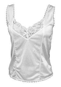New Women WHITE Lace Cami / Camisole Tank Top S M L XL 2XL 3XL NWT