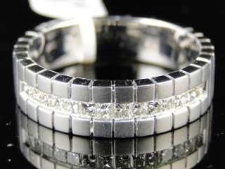 14K BRUSHED GOLD MENS DIAMOND WEDDING BAND RING .52 CT