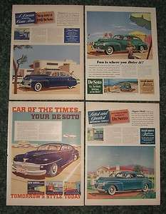 1941 & 42 DeSoto automobiles vintage ads   classic & antique cars