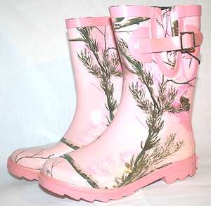 PINK CAMOUFLAGE YOUTH RAINBOOTS   LICENSED REALTREE GIRL BOOTS