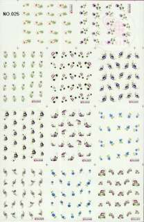 220 NAIL IMAGES IN 1 NAIL ART TATTOOS STICKER WATER DECAL C