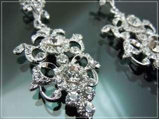 Clear Swarovski Crystal Bridal Chandelier Earrings NEW