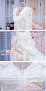 yrfashion Korean Fashion Women 2011 Chic White V Neck Flounced Lace