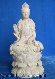 Blanc De China Dehua Porcelain Statue Of Kwan yin |