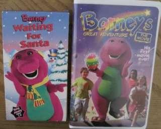 VHS VIDEOS BARNEY & FRIENDS DINOSAUR SANTA ROCK ZOO VALENTINE MOVIES