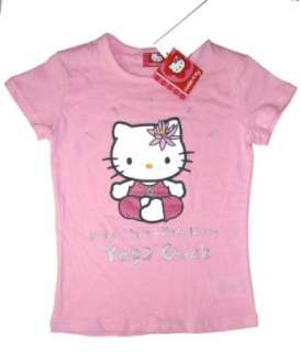Hello Kitty T shirt  Yoga Chick mit Glitzermotiv   rosé