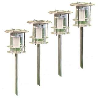 Unique Arts Stainless Steel LED Path Light   Set of 4 M22041 at The
