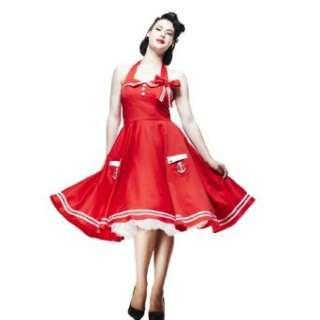 Hell Bunny Kleid MOTLEY 50S DRESS red  Bekleidung