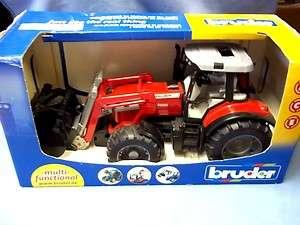 Bruder #2042 Massey Ferguson Tractor W/Front End Loader NIP