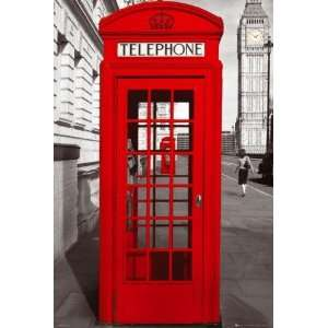 1art1 49303 London   Telefonzellen Perspektive, Big Ben Poster 91 x 61